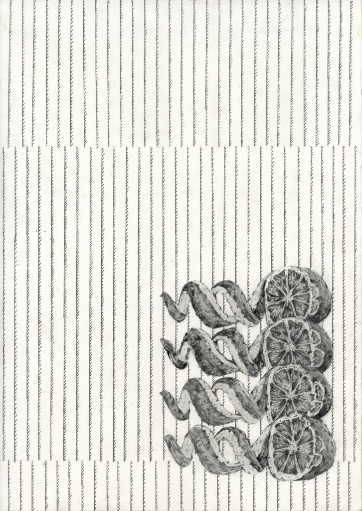 drawing pencil paper detail contemporary patrick roman scherer ornament vienna fine art installation object ppinestripes pattern