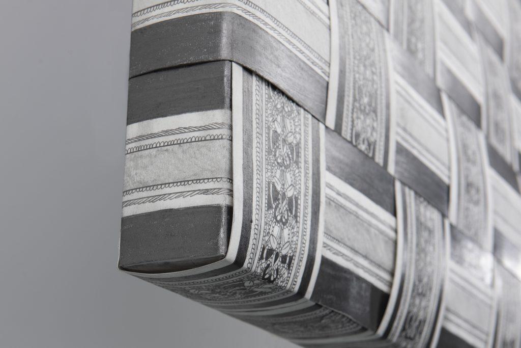 drawing pencil paper detail contemporary patrick roman scherer ornament vienna fine art installation object palmtree pattern