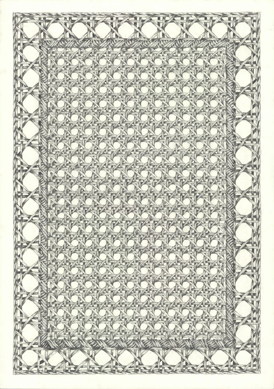 drawing pencil paper zeichnung detail contemporary patrick roman scherer ornament vienna fine art woven viennese carpet pattern